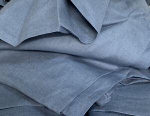 280cm Wide 100% Linen Fabric in Denim Colour For Bedding Homeware Craft Per/M