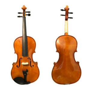 Paititi 16'' Size Upgrade Solid Wood Ebony Fitted Viola w Case Bow and Rosin