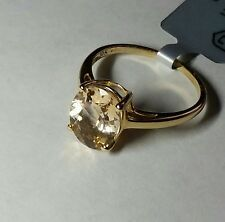 10k Yellow Gold Champagne Danburite Solitaire Ring Size 6/ Anillo de Oro