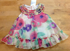 First Impressions Baby Girls Floral Dress, Multi Color, Size 18M