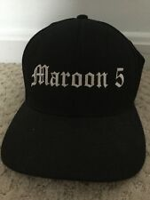 Maroon 5 Band Concert Collection Baseball Hat Cap Black Size S/M Great Condition