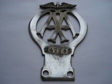 C1930S VINTAGE A.A.BADGE BAR FITTING BADGE No 247745