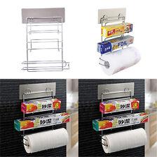 Paper Towel Storage Rack Hook Plastic Wrap Storage Shelf for Kitchen Bathroom