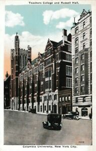 Teachers College and Russell Hall Columbia University NYC Haberman's WB Postcard