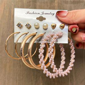 Wholesale Earrings Set Stud Hoop Dangle Crystal Acrylic Pearl Jewelry Set Women
