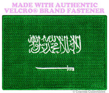 SAUDI ARABIA FLAG PATCH ARAB ARABIAN EMBROIDERED ISLAM w/ VELCRO® Brand Fastener