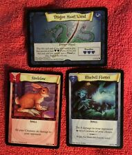 LOT OF 3 HARRY POTTER TRADING CARD BLUEBELL FLAMES STEELCLAW DRAGON HEART WAND