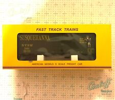 American Models S Scale Susie Q #1136 40' Box Deluxe Roofwalk NIB HI-Rail