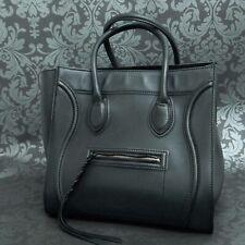 Rise-on CELINE Luggage Phantom Calfskin Leather Black Handbag Tote bag #7