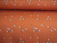 Baumwolle Baumwollstoff Dreieck Triangle orange bunt Meterware Kinderstoff