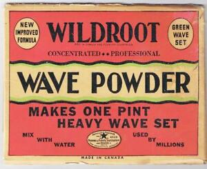 Wildroot Wave Powder 1930s Made In Canada