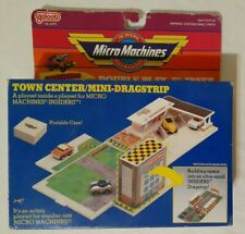 1989 Galoob Micro Machines - Town Center / Mini-Dragstrip Playset NEW OPEN BOX