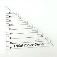 Folded Corner Clipper Quilting Templates Ruler # FCC-01