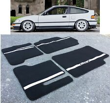 For 88-91 Honda CRX 1.5 Hatchback Custom Floor Mats Carpet Black Authentic Style