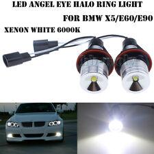 2x LED Angel Eye Halo Light DRL Bulb For BMW E39 E53 E60 E61 E63 E87 X3 X5 White
