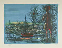 """""""The Port"""" by Jean Carzou Signed Artist's Proof AP Lithograph 20""""x25 1/2"""""""