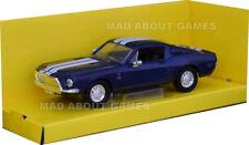 SHELBY GT-500KR 1:43 Car Model Die Cast Metal Models 500 KR Miniature Blue 1968
