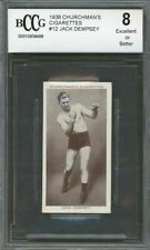 1938 churchman's cigarettes #12 JACK DEMPSEY boxing card BGS BCCG 8