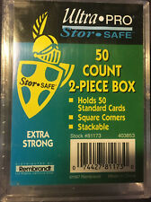 Ultra Pro 50-Count 2-Piece Plastic Box 2-pack, Total of 100 card storage!!!
