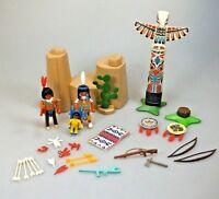 Playmobil Spielset Konvolut Zubehör Indianer Totempfahl