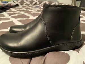 BIRKENSTOCK BENNINGTON WOMEN'S BLACK LEATHER ANKLE BOOTS SIZE 7-7.5US/ 38EU