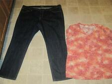 OLD NAVY misses sz 18 DIVA darkwash skinny jeans & MAURICES knit top 1 LOT j127