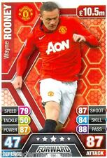 2013/2014 Match Attax 196 Wayne Rooney-Manchester United