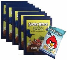 ANGRY BIRDS SPACE AUTOCOLLANT COLLECTION 5 PAQUETS+BONUS PAQUET DE