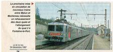 1997  --  TRAIN DE BANLIEUE EN GARE DE FONTAINE LE PORT   Y505