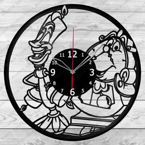 Vinyl Clock Beauty and the Beast Record Wall Clock Home Art Decor Handmade 5138