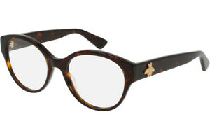 Gucci spectacle glasses frame GG0099O havana 002 with Gucci case, pouch & cloth