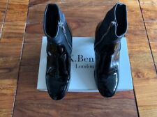 LK Bennett black leather patent boots UK 2 35 boxed