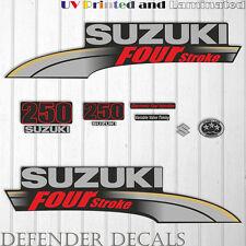 Suzuki 250 hp Four Stroke outboard engine decal sticker set reproduction 2004