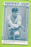 1977 TCMA Baseball's Great Hall of Fame Exhibit Postcard - Walter Johnson