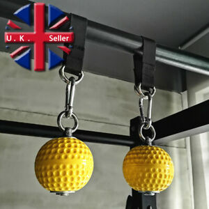 x2 Yellow 7.2cm Pullup balls exercise pull up climbing bouldering grip training