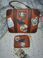 More details for disney toystory loungefly bag and purse set bnwt and stuffing inside the bag.