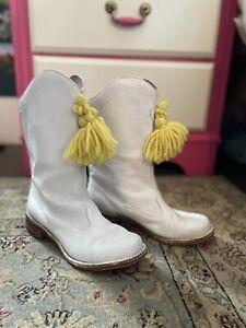 Vintage Majorette 1960s Boots Band White Women's Girls