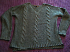 Stylish & On Trend Teal Cable knit jumper size 8