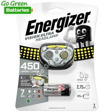 Energizer Vision Ultra LED Head Torch 450 Lumens Headlight Lamp 7 Modes 50 hrs