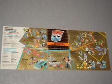 "G1 TRANSFORMER PRETENDERS CATALOGUE BOOKLET ""1988 PRINT"" LOT # 1"