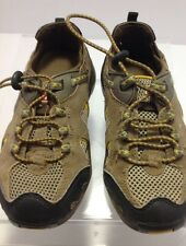 Swiss Gear size 1 youth green/black leather/mesh hiking shoes