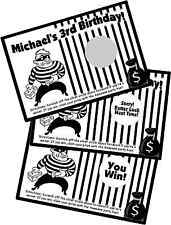 COPS AND ROBBERS SCRATCH OFF OFFS PARTY GAME & GAMES CARDS BIRTHDAY FAVORS