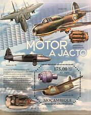 MOZAMBIQUE JET AIRPLANE & ENGINE OCTAGON SHAPED STAMPS S/S 2011 MNH AIRCRAFT