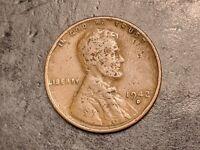 1942-D Lamination US Mint Error Lincoln Wheat Cent