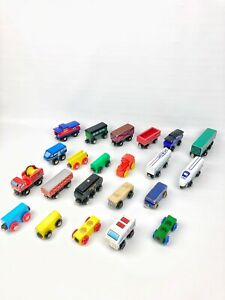 Thomas The Train & Friends Lot Of 22 Wooden Vintage Various Cars