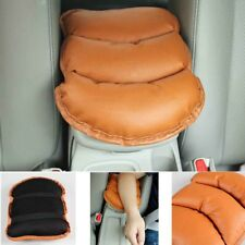 Car Center Console Box Armrest Soft PU Leather Brown Pad Cover Auto Accessory