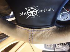 Pour Jaguar Daimler Marque 2 Beige Housse Volant Cuir Gris Double Point