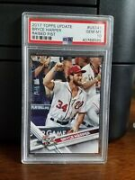 2017 Topps Update Bryce Harper Raised Fist Baseball Card #US141 PSA 10 Gem Mint