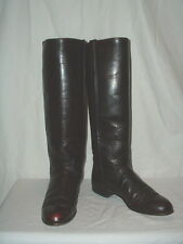 Women's Justin Tall Knee High Black Cherry Equestrian Boots 5B L4728