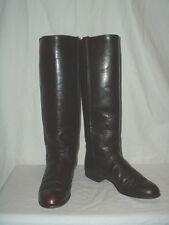 Women's Justin Tall Knee High Black Cherry Equestrian Boots 5B L4728